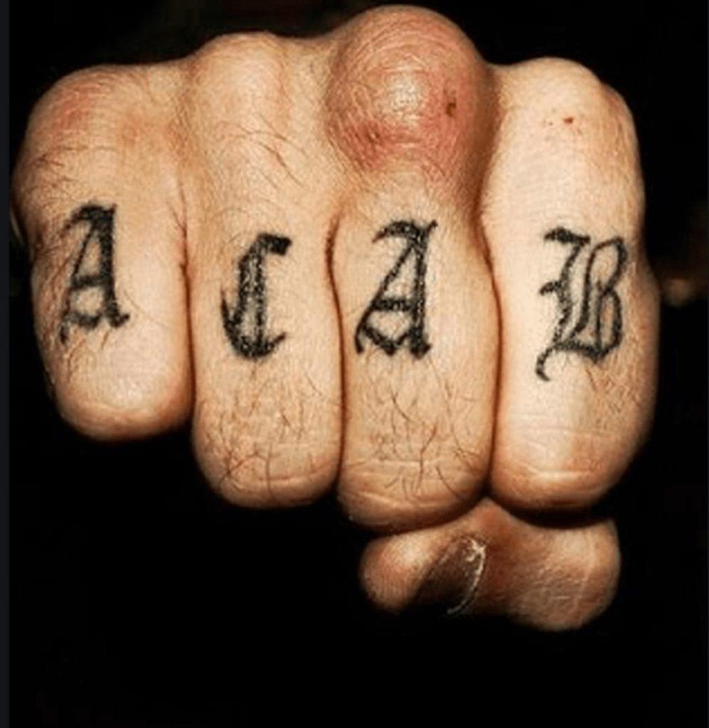 tatouages en prison   ACAB  #tatouage #prison #duflan